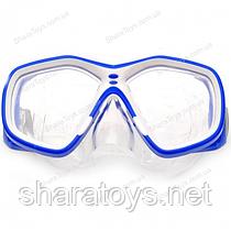 Маска для плавания голубая с белым