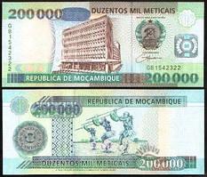 Мозамбик / Mozambique 200000 Meticais 2003 Pick 141 UNC