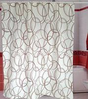 Штора для ванной комнаты  из полиэстера (180Х200 см) декор AMALIA с бежевым узором Miranda OST-345
