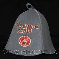 Шапка для сауны и бани с вышивкой логотипа