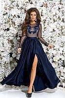 Роскошное платье с вышивкой в расцветках 320 (7250)