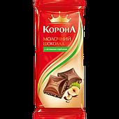 Шоколад Корона Молочный с лесным орехом 90г
