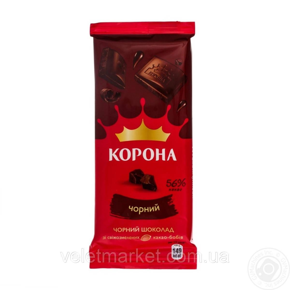 Шоколад Корона Черный без добавок 90 г
