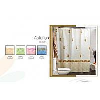 Штора для ванной комнаты  из полиэстера (180Х200 см) декор AUSTURIA с розовым узором Miranda OST-349