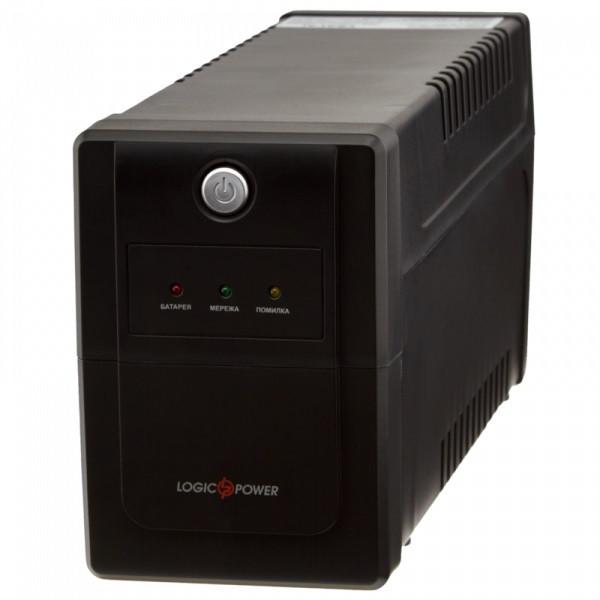 ИБП LogicPower LPM-825VA-P, Lin.int., AVR, 2 x евро, пластик