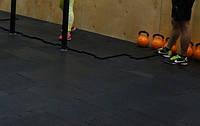 Резиновый коврик для тренажерных залов, гирь., фото 1
