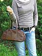 Сумочка женская кожаная 4023 коричневая, фото 3