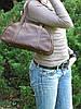 Сумочка женская кожаная 4023 коричневая