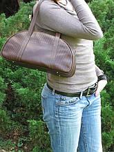 Сумочка женская кожаная Михаил Ихтяр 4023 коричневая