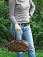 Сумочка женская кожаная 4023 коричневая, фото 10