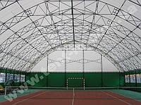 Тентовое накрытие теннисного корта, минифутбола. 20х40м