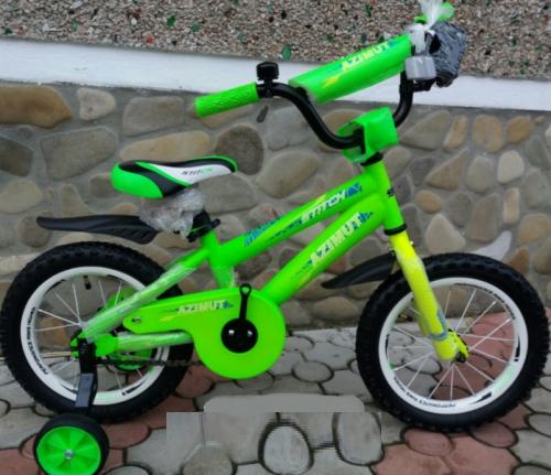 "Велосипед 2-х кол. Azimut Stitch А 12"" салатовый"