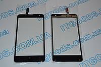 Оригинальный тачскрин / сенсор (сенсорное стекло) для Nokia Lumia 625 (черный цвет, самоклейка)