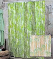 Штора для ванной комнаты  из полиэстера (180Х200 см) декор BAMBOOS с бежевым узором Miranda OST-353