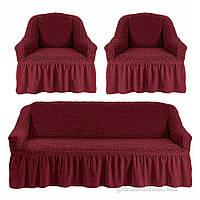Чехлы для дивана и двух кресел Love you Пурпурный-37