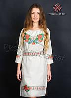 Женское вышитое платье 0074