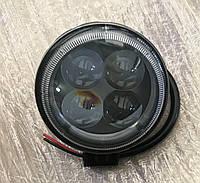 Фара LED круглая 12W, 4 лампы, узкий луч