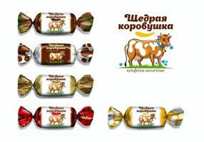 Белорусские конфеты Щедрая Коровушка