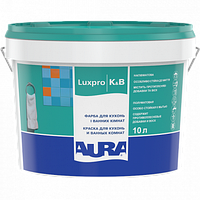 Краска акрилатная дисперсионная для кухонь и ванных комнат AURA Luxpro K & B 10л