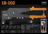 Заклепочник L-280мм для заклепок Ø2.4-4.8мм, 360º, NEO 18-102