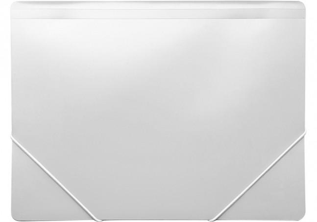 Папка пластикова для документів А4 на гумках під нанесення , біла N38601-14