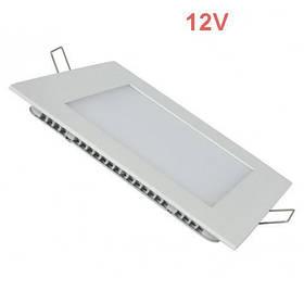 Светодиодная врезная панель SL 447S S 6W 12V 4000K  квадратный белый IP20 Код.59470