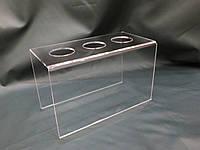 Подставка акриловая для вафельных рожков на 3 шт, фото 1
