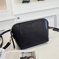 Модная маленькая женская сумка. Сумка женская через плечо (черная)
