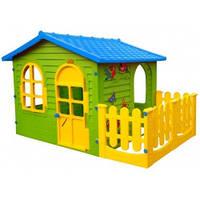 Домик садовый детский игровой большой XXL + заборчик для квартиры и для дачи