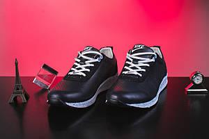 Кроссовки Onward 222 (Nike) (весна/осень, женские, натуральная кожа, синий)
