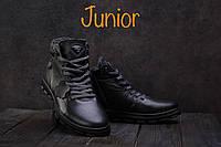 Ботинки подростковые Milord Olimp черные (натуральная кожа, зима), фото 1