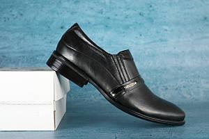 Туфли Yuves Далас (весна-осень, подростковые, кожа, черный)