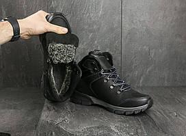 Ботинки Brand V17 (Columbia) (зима, мужские, натуральная кожа, черный)