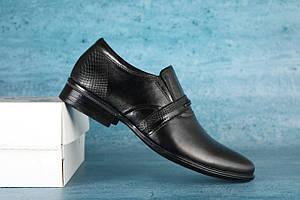 Туфли Cevivo 622 (весна-осень, подростковые, кожа, черный)
