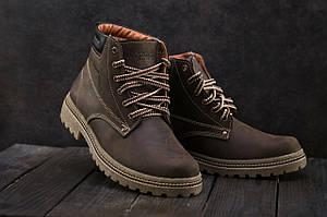 Ботинки мужские Accord БОТ коричневые (натуральная кожа, зима)
