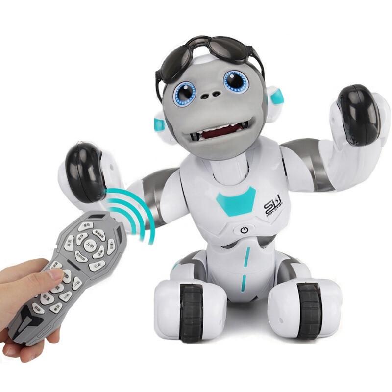 Робот LE NENG TOYS K12 Intelligent Orangutan Robot багатофункціональний робот на р/к Білий (SUN3670)
