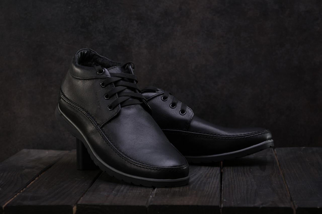 Ботинки мужские Vankristi 927 черные (натуральная кожа, зима)