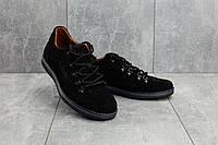 Повседневная обувь мужские Yuves 650 черные (замша, весна/осень), фото 1