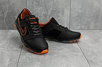 Кроссовки мужские New Mercury N8 черные-оранжевые (натуральная кожа, весна/осень), фото 1