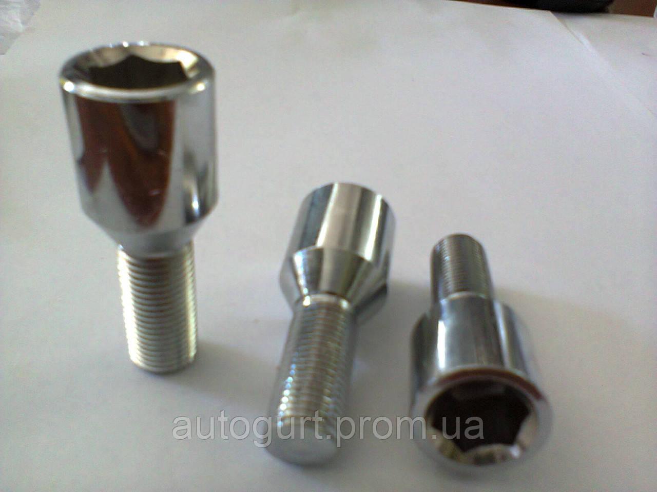 Болт колеса B 7315 (JN-305) 12x1.25x25,10  L52 спец. тит./хром (під шестигранник)