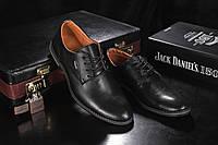 Туфли мужские Yuves М5 (Trade Mark) черные (натуральная кожа, весна/осень), фото 1