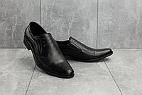 Туфли мужские Belvas 221 черные (натуральная кожа, весна/осень), фото 1