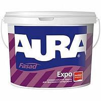 Краска для наружных и внутрених работ (матовая) AURA Fasad Expo 10л