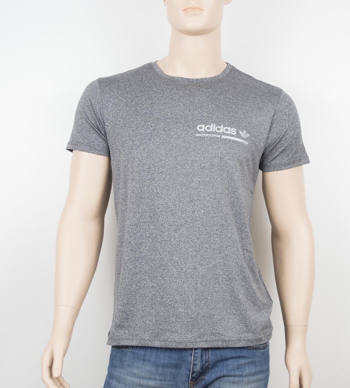 "Мужская футболка ""Вискоза"" Adidas 1902 серый"