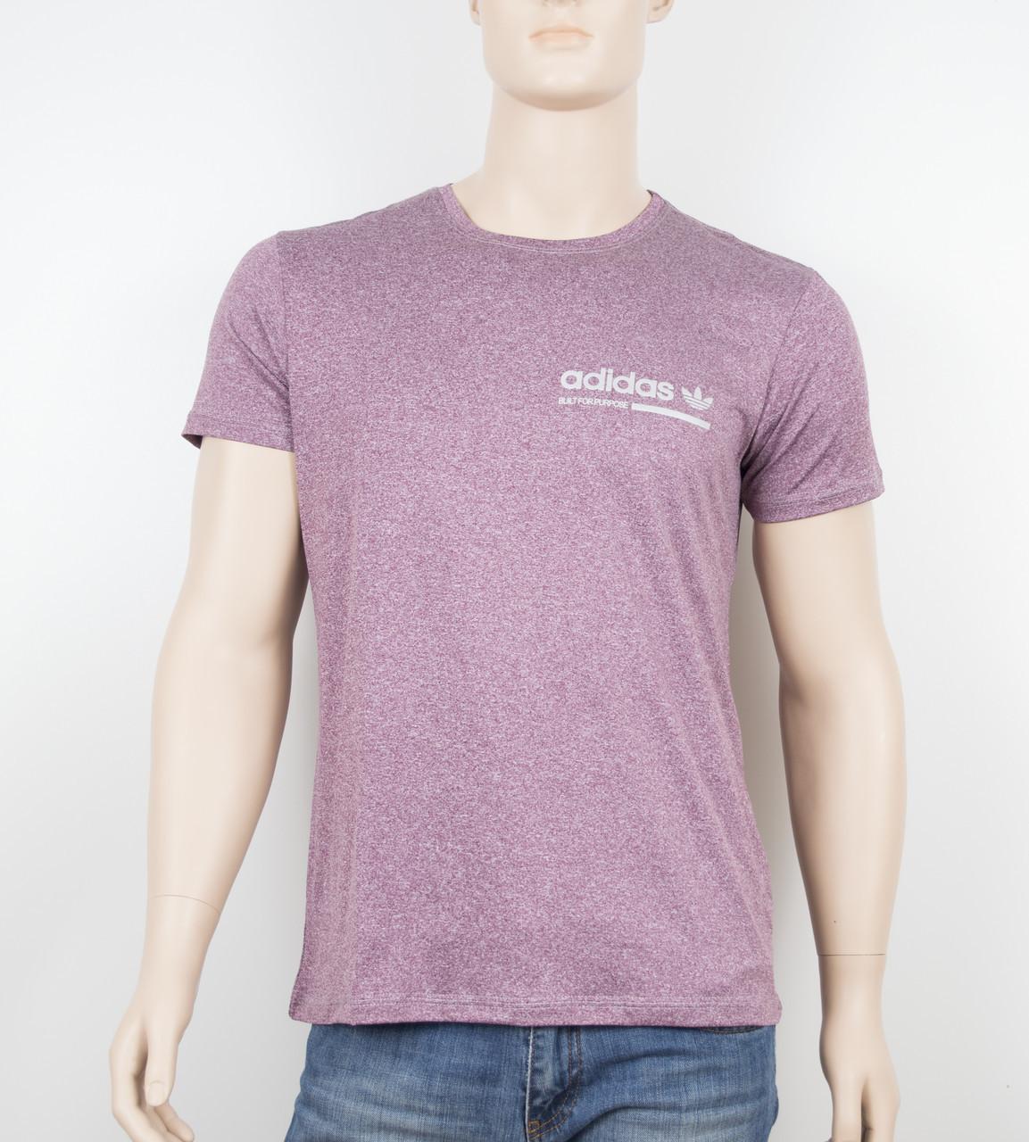 """Мужская футболка """"Вискоза"""" Adidas 1902 бордо"""