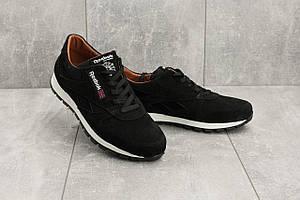 Мужские кроссовки замшевые весна/осень черные Yuves R 250