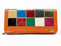 Оранжевый кожаный кошелек Qian xi lu новая модель