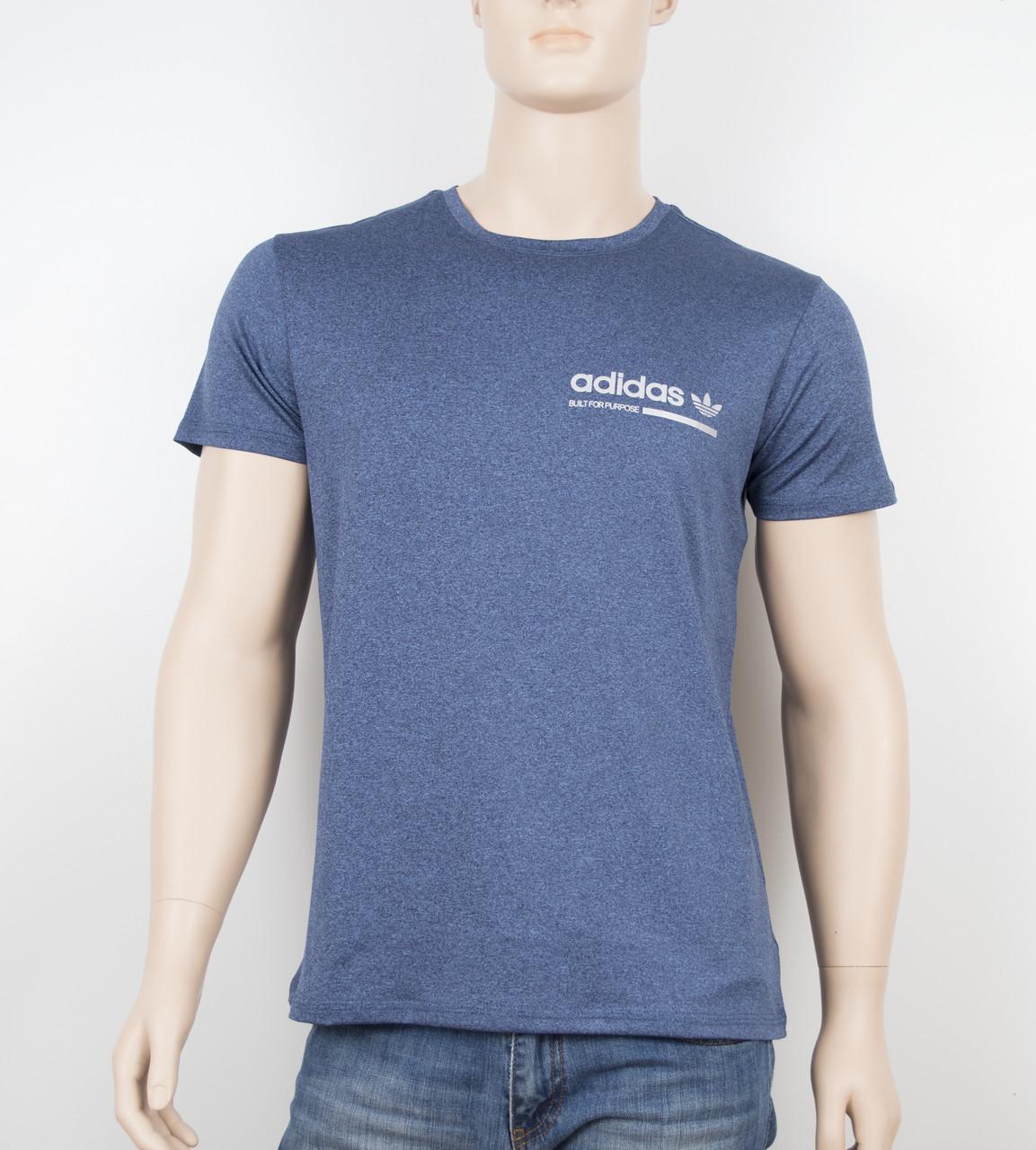 "Мужская футболка ""Вискоза"" Adidas 1902 синий"