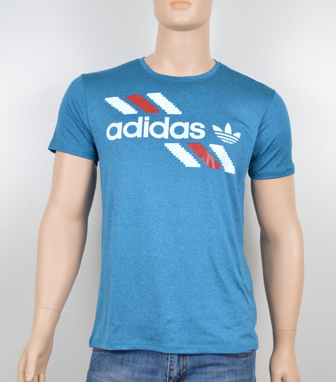 "Мужская футболка ""Вискоза"" Adidas 1901 бирюза"