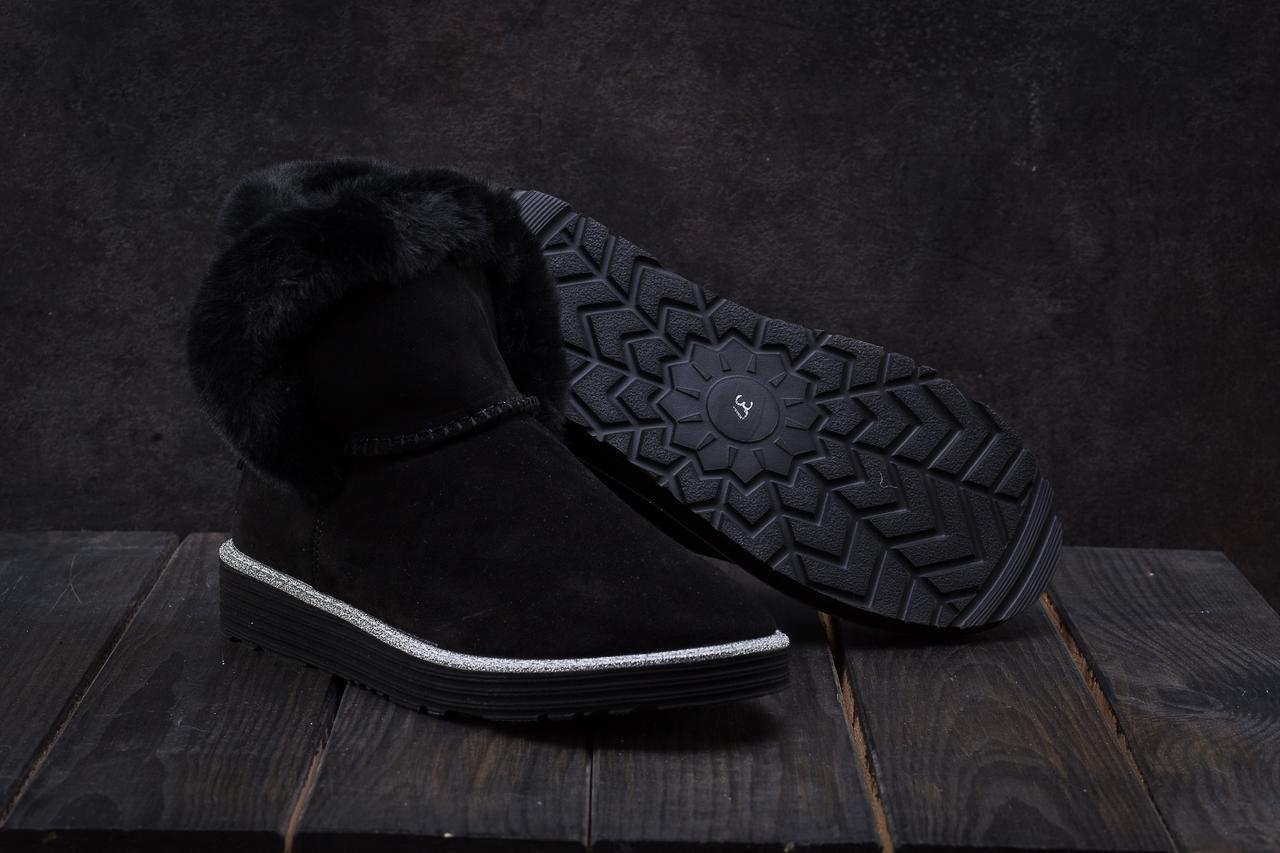 Ботинки женские Best Vak УГ 44 -01 черные (замша, зима)